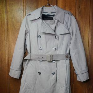 London Fog Maincoats Womens Lined Trench Rain Coat